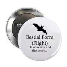 "2.25"" Beastial Form (Flight) Button (10 pack)"