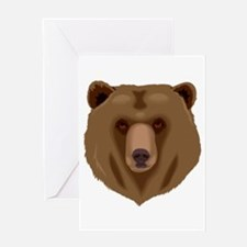 Tired Angry Grizzly Brown Bear Greeting Cards