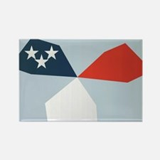 4th of July flag windmill Rectangle Magnet