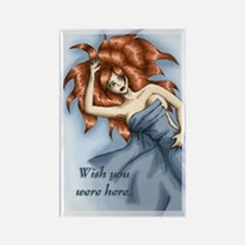 Wish you were here Rectangle Magnet