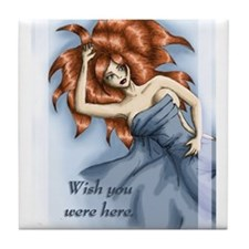 Wish you were here Tile Coaster