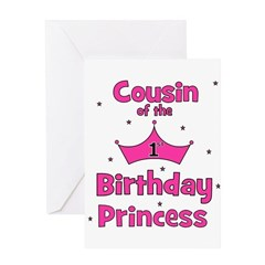 Cousin of the 1st Birthday Pr Greeting Card