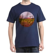 Flowering Meadow Eagle Dark T-Shirt