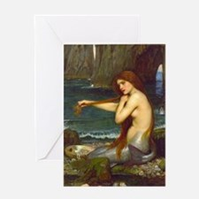 Red Haired Mermaid Note Card