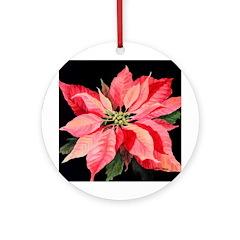 Red Poinsettia Ornament (Round)