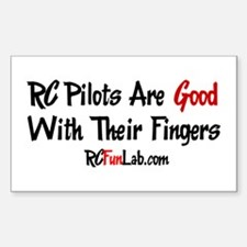 Good Fingers Rectangle Decal