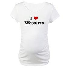 I Love Websites Shirt