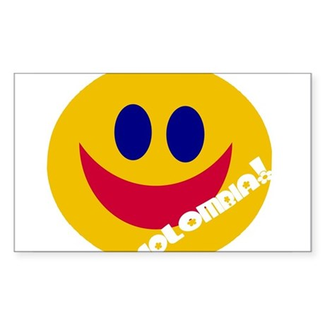 COLOMBIA HAPPY FACE Rectangle Sticker