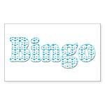 Bingo Hearts text Rectangle Sticker 50 pk)
