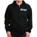 Bingo Hearts text Zip Hoodie (dark)