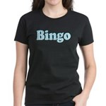 Bingo Hearts text Women's Dark T-Shirt