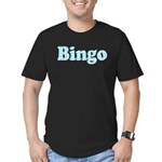 Bingo Hearts text Men's Fitted T-Shirt (dark)