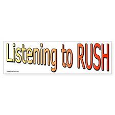 Listening to Rush Bumper Bumper Sticker