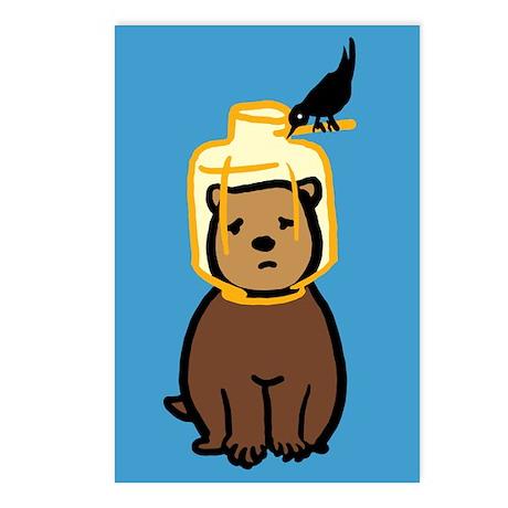 Bird Feeder Bear Cub Postcards (Package of 8)