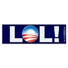 LOL Obama Bumper Bumper Sticker