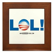 LOL Obama Framed Tile