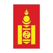 Mongol Emblem Rectangle Sticker 50 pk)