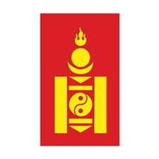 Mongol Emblem Rectangle Decal