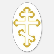 Orthodox Plain Cross Oval Decal