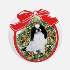 Japanese Chin Christmas Ornament (Round)