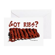 Cute Bbq ribs Greeting Card