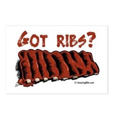 Cute Bbq ribs Postcards (Package of 8)
