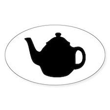 tea pot Oval Decal