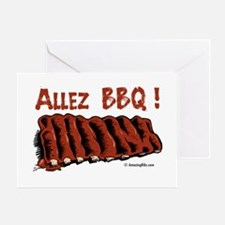 Bbq ribs Greeting Card