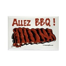 Funny Barbecuing Rectangle Magnet (10 pack)