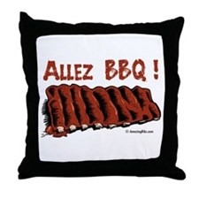 Bbq ribs Throw Pillow