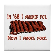 Cute Grilling smoking Tile Coaster