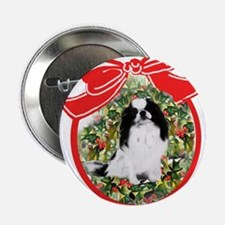 Japanese Chin Christmas Button