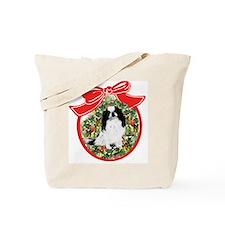 Japanese Chin Christmas Tote Bag