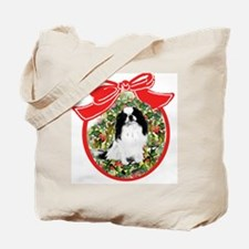 Japanese Chin Christmas Tote Bag