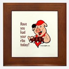 Funny Grill dad Framed Tile