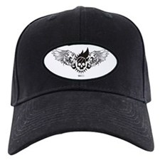 Black Winged Skull Cap
