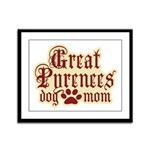 Great Pyrenees Mom Framed Panel Print