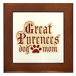 Great Pyrenees Mom Framed Tile