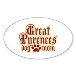 Great Pyrenees Mom Sticker (Oval 10 pk)