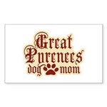 Great Pyrenees Mom Sticker (Rectangle)