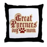 Great Pyrenees Mom Throw Pillow