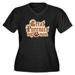 Great Pyrenees Mom Women's Plus Size V-Neck Dark T