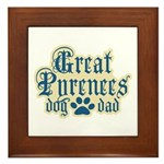 Great Pyrenees Dad Framed Tile