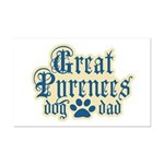Great Pyrenees Dad Mini Poster Print