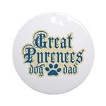 Great Pyrenees Dad Ornament (Round)