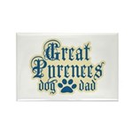 Great Pyrenees Dad Rectangle Magnet