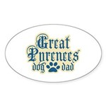 Great Pyrenees Dad Sticker (Oval 10 pk)