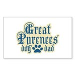Great Pyrenees Dad Sticker (Rectangle 50 pk)