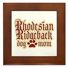 Rhodesian Ridgeback Mom Framed Tile