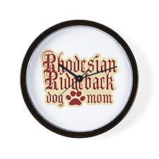 Rhodesian Ridgeback Mom Wall Clock